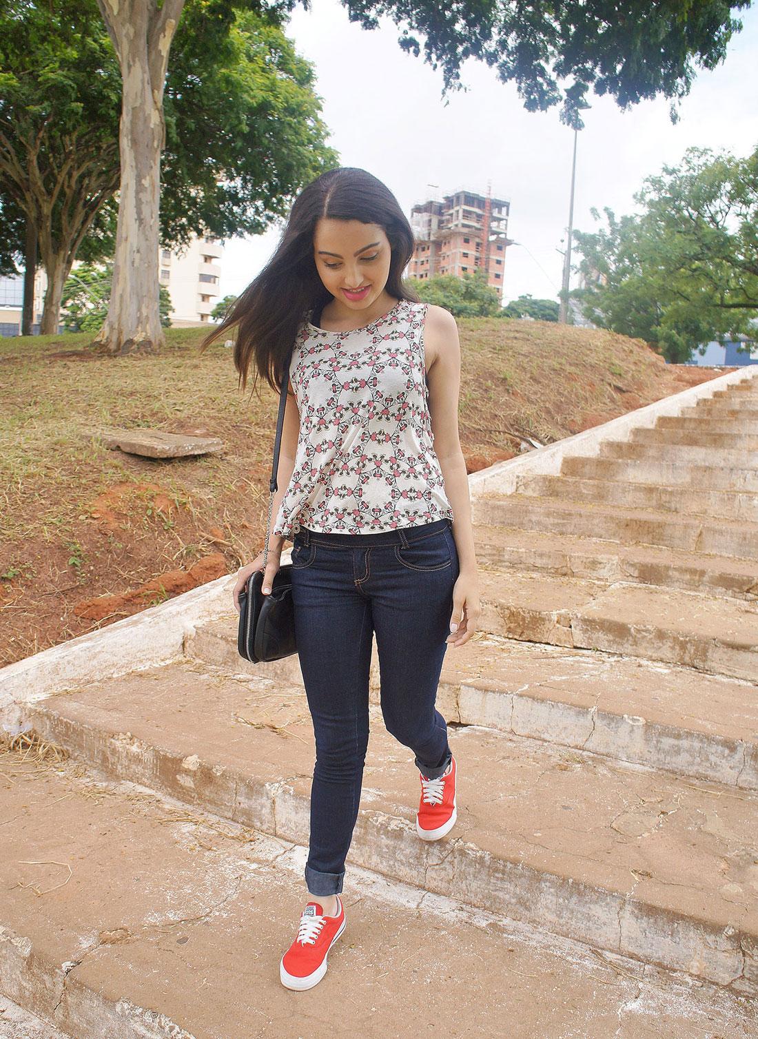 Look Jeans e Vermelho