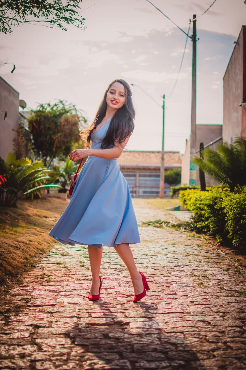 Sapatos para vestido azul claro